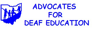 Logo for advocates for deaf education